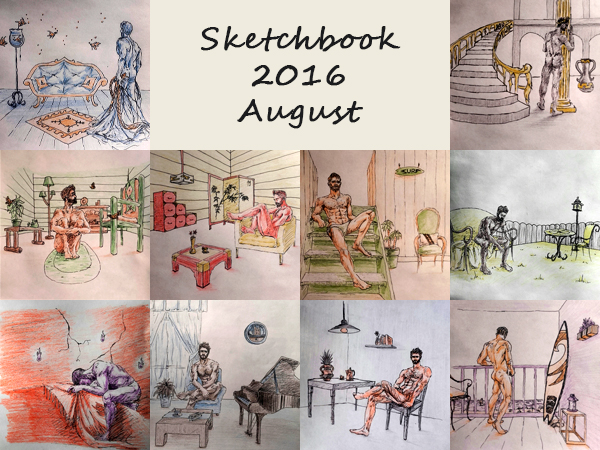 Sketchbook 2016 - August by Charmyto