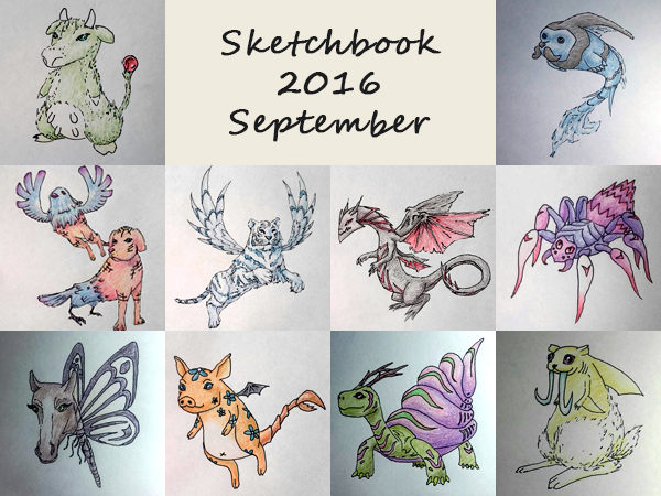 Sketchbook 2016 - September by Charmyto
