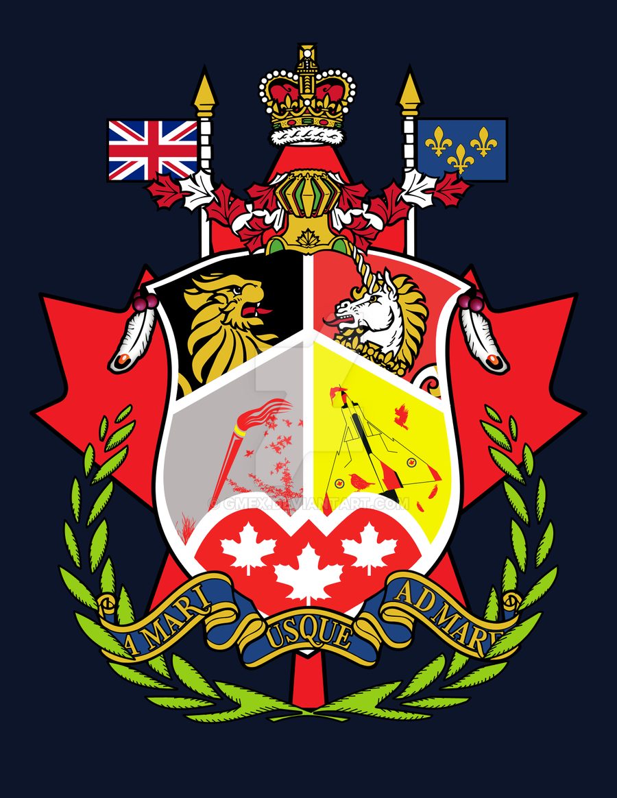 Canadian Coat of Arms Redesign by Gmex on DeviantArt