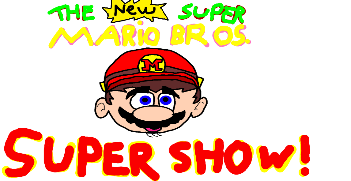 The New Super Mario Bros Super Show Logo By 3dmarioworld On