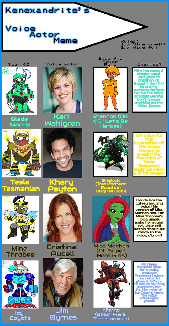 MegaMan X: The Animated Series- Voice Actor Meme 3 by 3dmarioworld