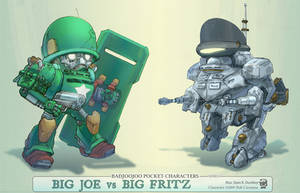 Big Joe vs Big Fritz by seandunkley