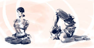 Figure Drawing - Yoga 002