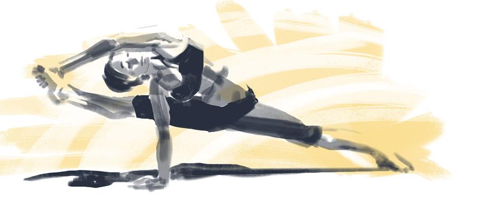 Figure Drawing - Yoga 003 by seandunkley