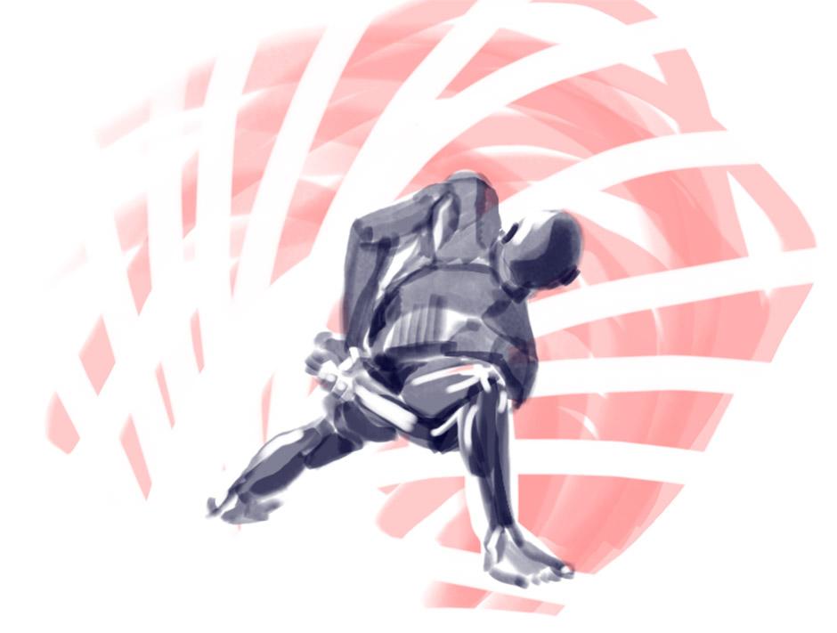 Figure Drawing - Yoga 004 by seandunkley