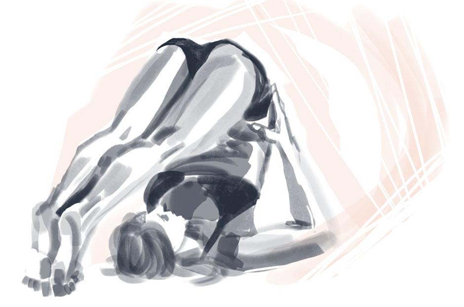 Figure Drawing - Yoga 005 by seandunkley