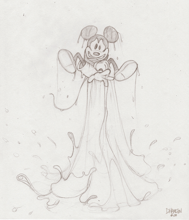 Mickey's new powers by Hamilton74