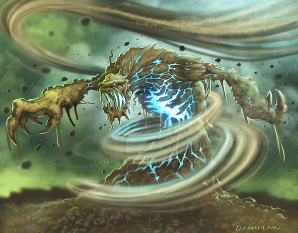 Sorcery: Soil Elemental concept by Hamilton74