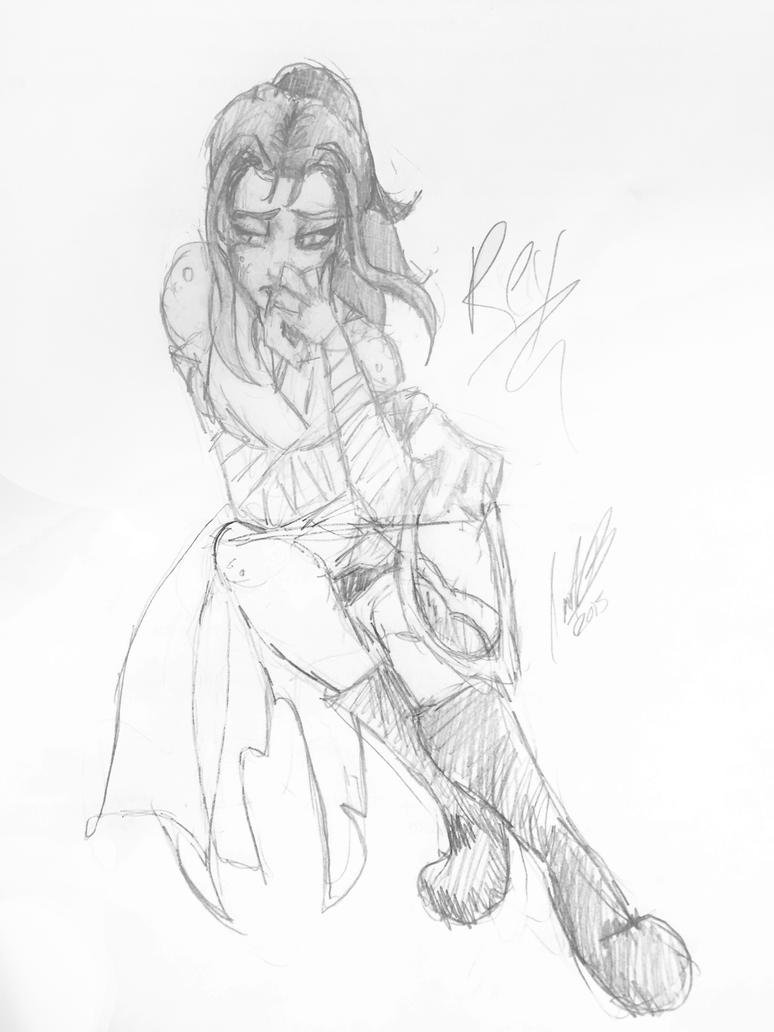 Rey doodle by cartoonation