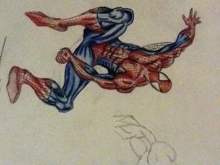 Spiderman Drawing Color Spiderman Colored Pencil