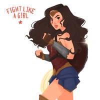 Fight Like A Girl by VittysArtBox