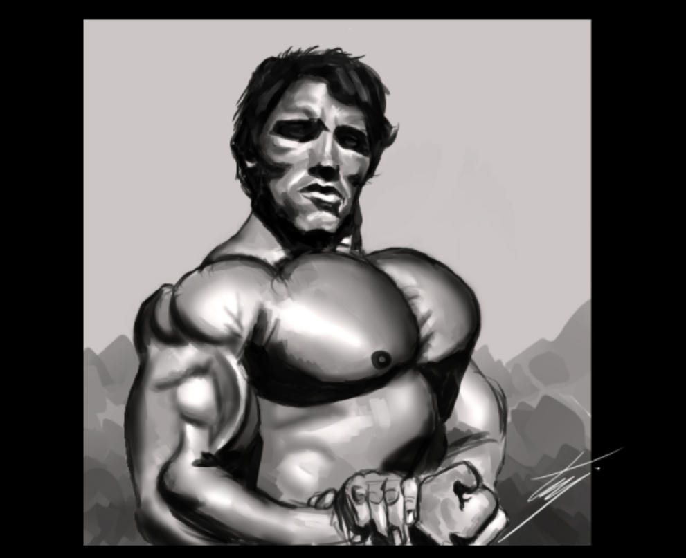 quick Arnold Shwarzy by ismahope