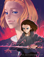 Arya vs The Waif by sukinahito