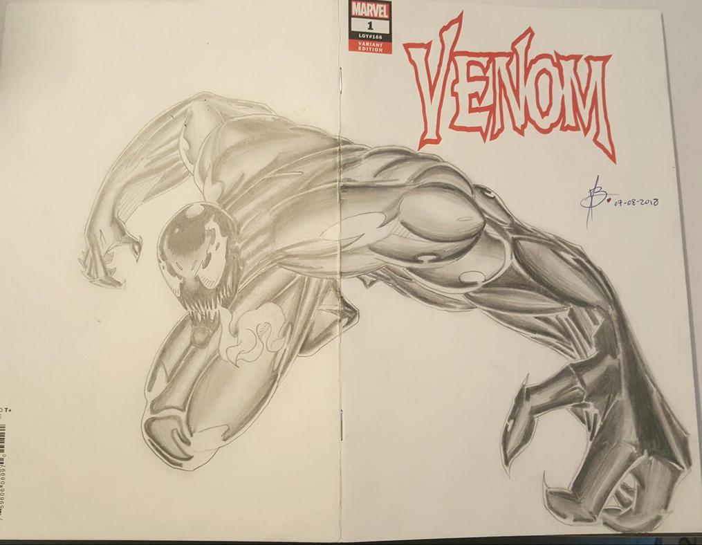Venom Cover Art Blank Comic by junhb74