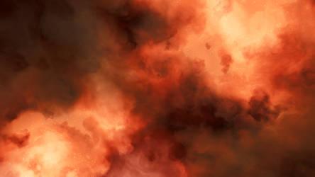 Fire Nebula Background