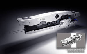 3D Ship Concept: The Yuntai by MarkKingsnorth