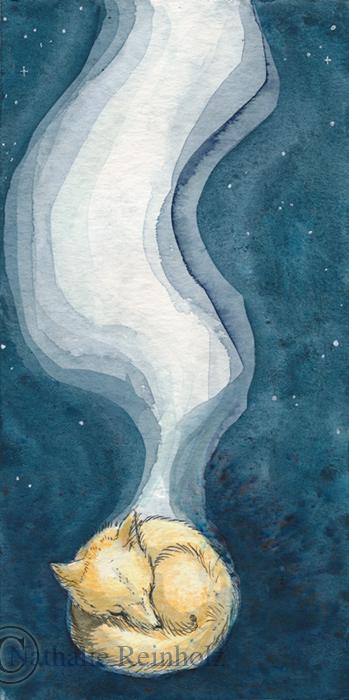 Sleeping fox by endless-spirit