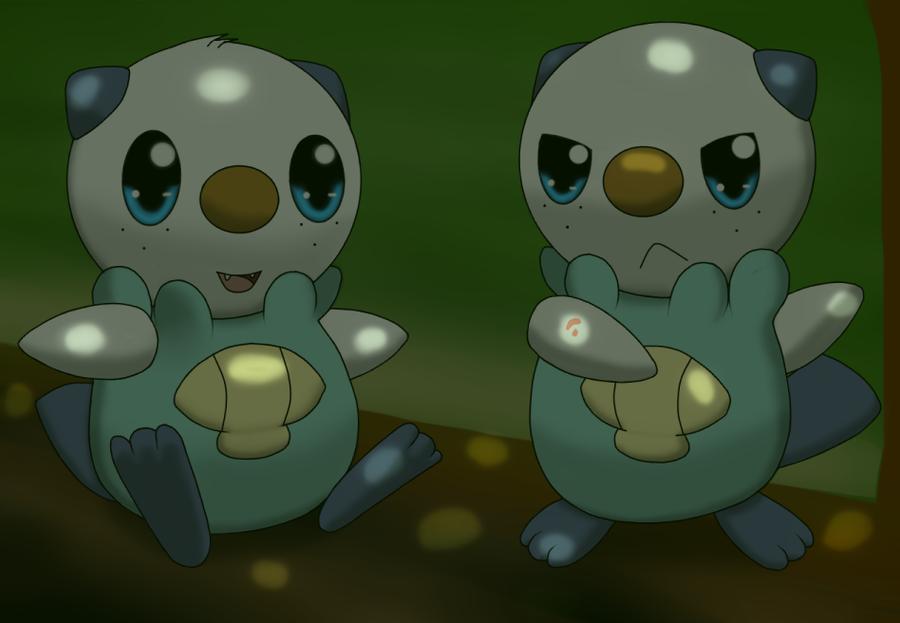 The Oshawott twins by DreamyNormy