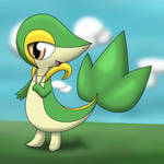 Snivy!~ With a different style!