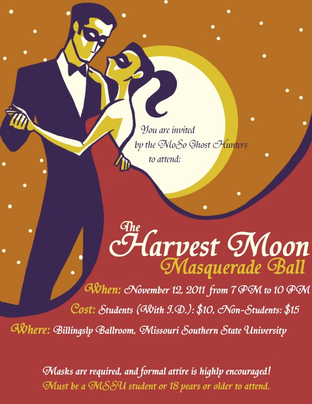 Poster Design The Harvest Moon Masquerade Ball By LaurenWoodall