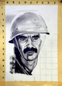 Graphite portrait WIP