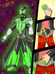 kamen rider wizard green lantern by WarriorIkki-toac50