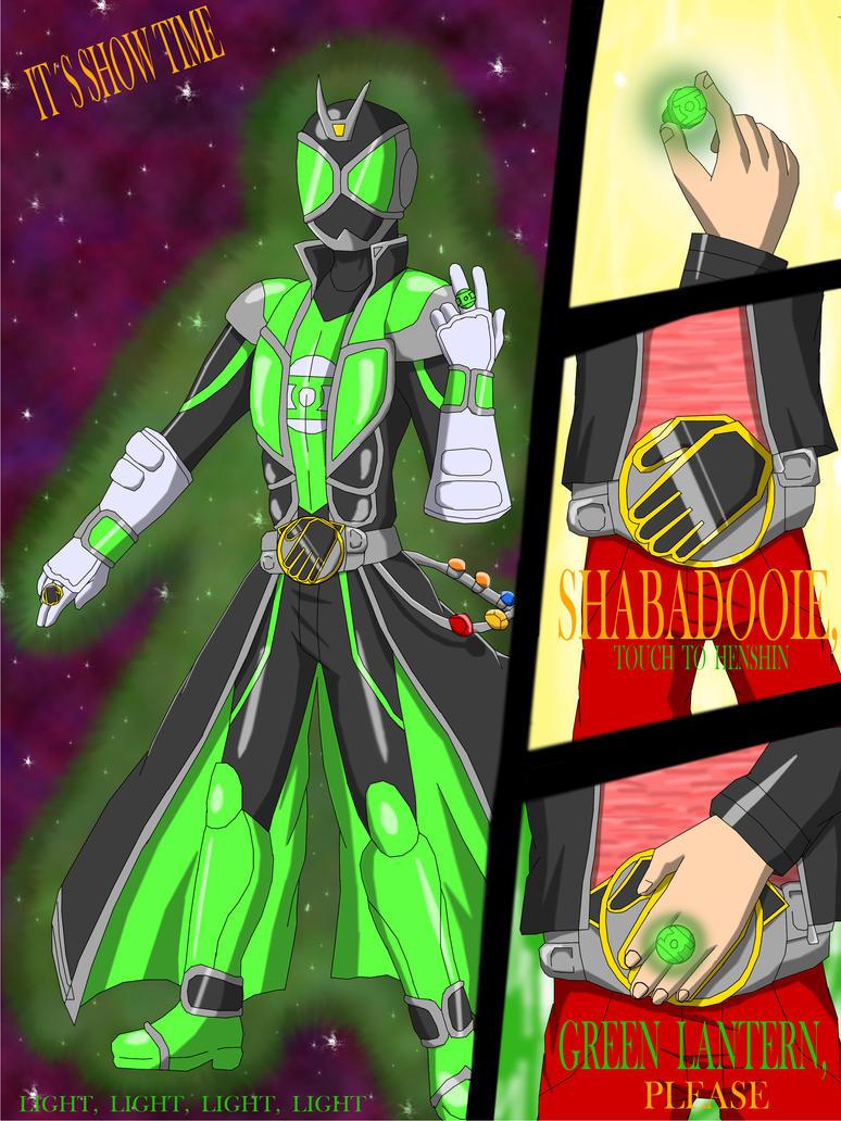 Kamen Rider Wizard Green Lantern By Warriorikki Toac50 On