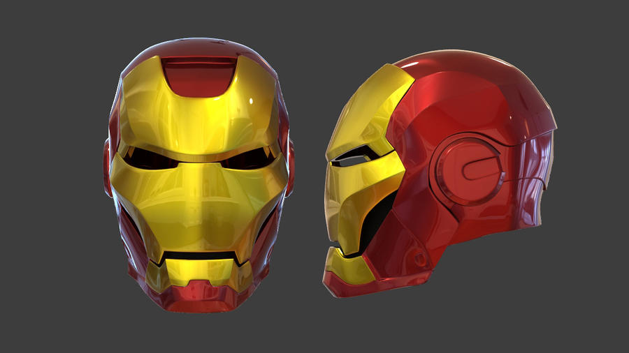 how to draw iron man 3 face