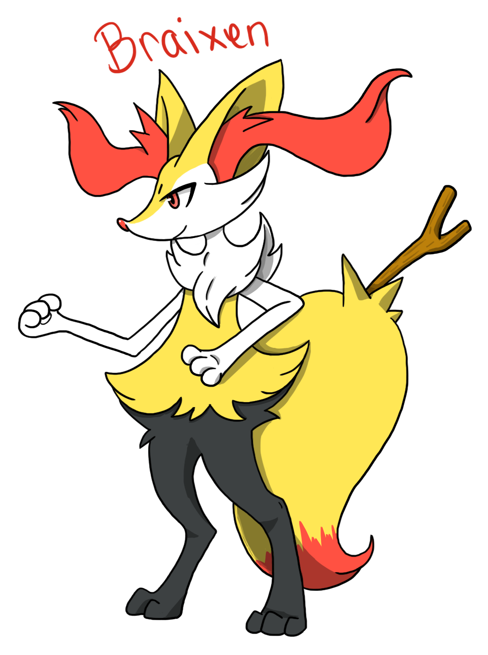 fennekin evo braixen by yellowyyellow on deviantart