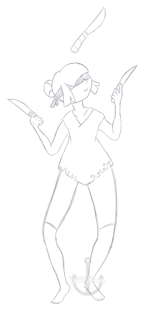Goretober Day 3 - Playing with Knives by yellowy-yellow