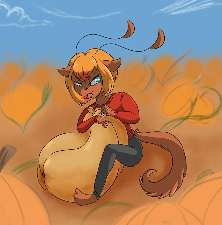 Jenna's Pumpkin by yellowy-yellow