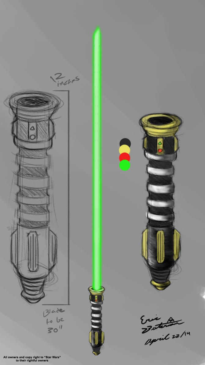 My Lightsaber sketch by EricButerman