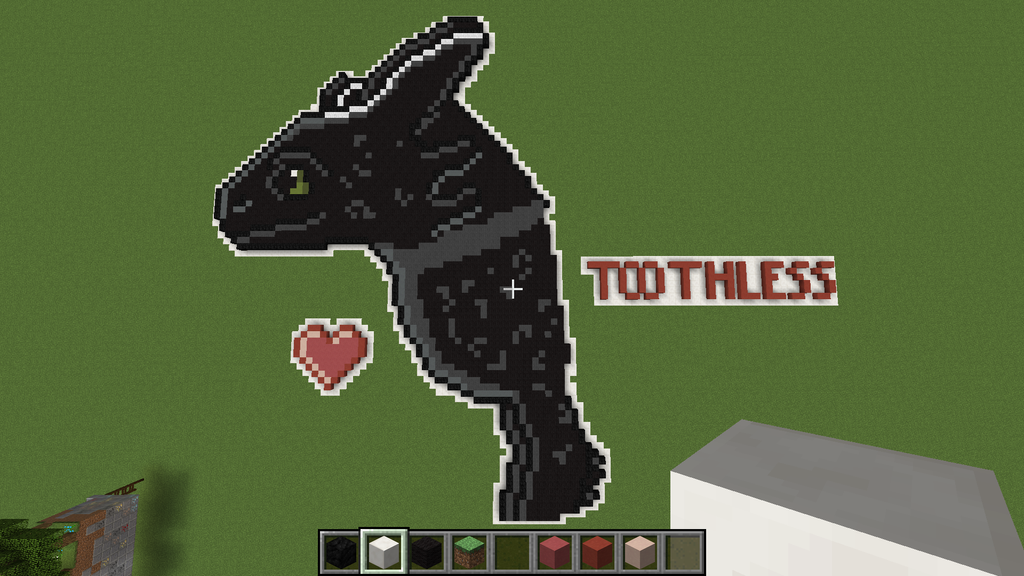 Toothless Pixel Art/ Minecraft PC/mac By Nightfury Rider123 ...