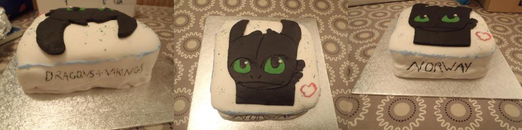 HTTYD cake by Nightfury-Rider123