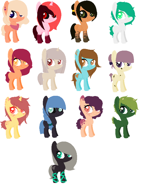 i did some pony adopts!! (ota- info in description by XMidnight-NightmareX