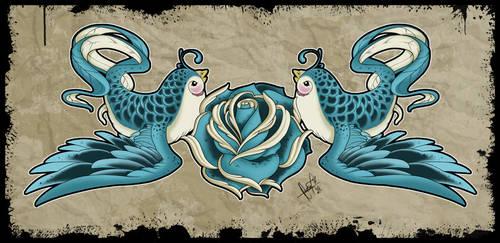 Love Birds - Tattoo Design