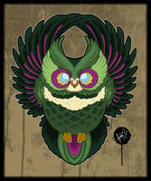 Flying Owl - Tattoo Design by SugarSkullCandy