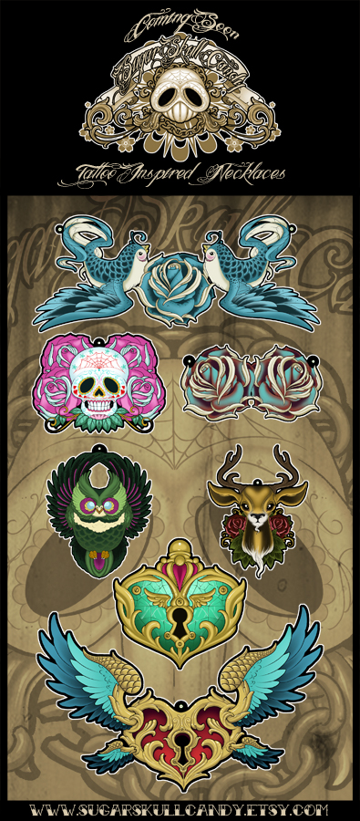 7 New Necklace Designs by SugarSkullCandy