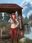 Commission - Sharlah the blacksmith