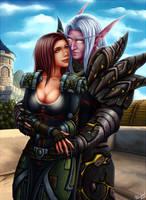 Kazagari and Zamon by PersonalAmi