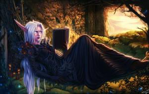 Night elf druid by PersonalAmi