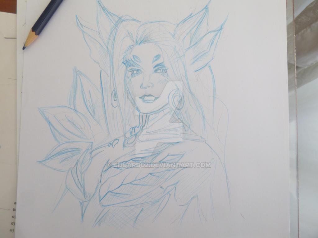 Zyra.LOL - Sketch by eduard02