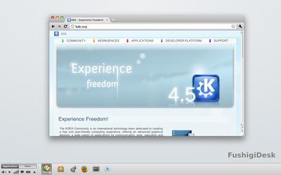 KDE Plasma panel Mockup