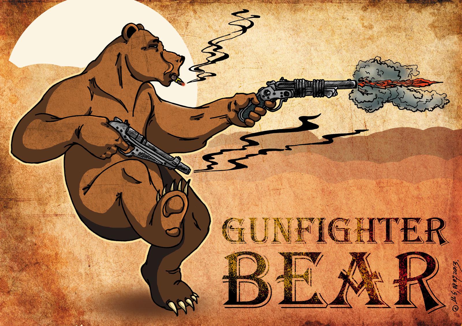 Gunfighter bear v 01 by bear bm on deviantart - Gunfighter wallpaper ...
