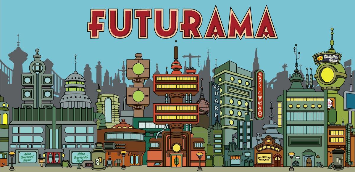 Futurama fanart NNY color by bear bm