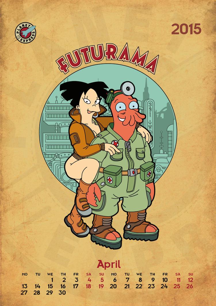 Futurama, calendar 2015, page 4 by bear-bm