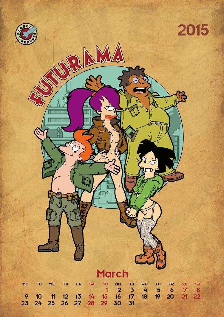 Futurama, calendar 2015, page 3 by bear-bm