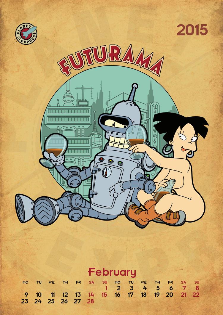 Futurama, calendar 2015, page 2 by bear-bm