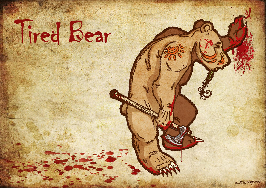 Tired Bear by bear-bm