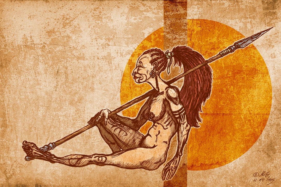 My Desert - The woman-warrior of the tribe ginar 2 by bear-bm